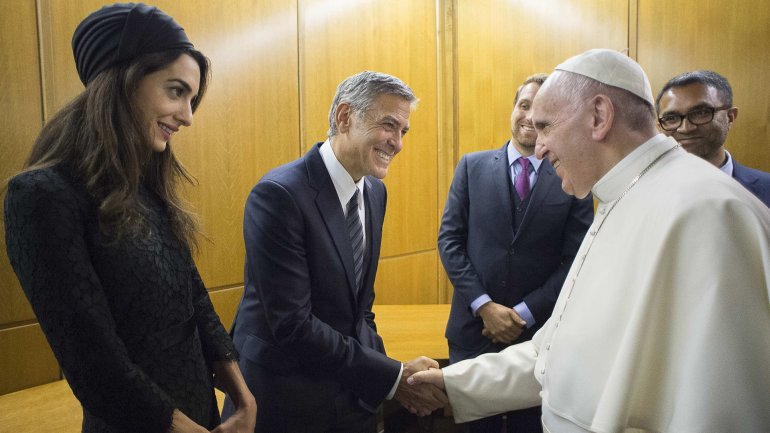 Clooney y pope