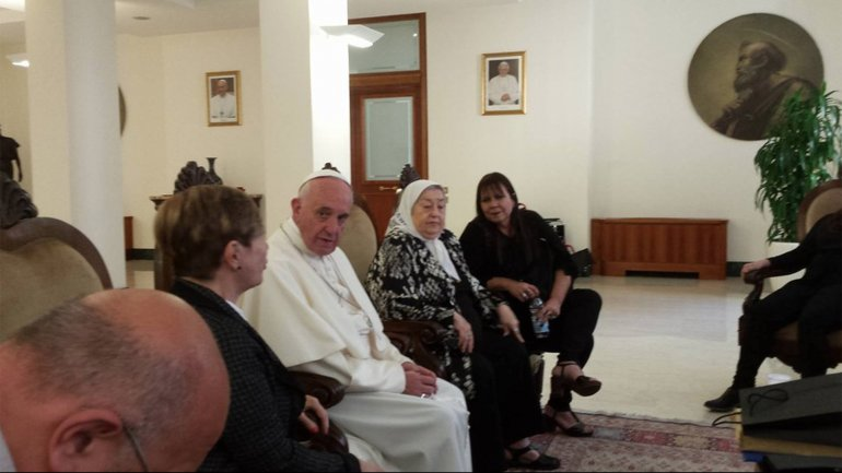 papa francisco y bonafini
