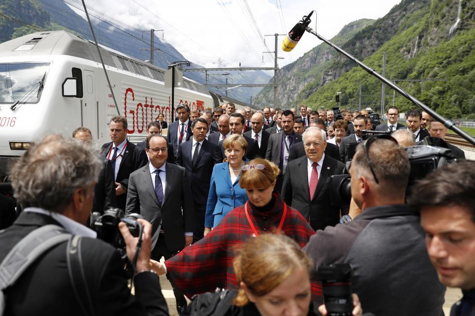 Líderes europeos en el ritual satánico