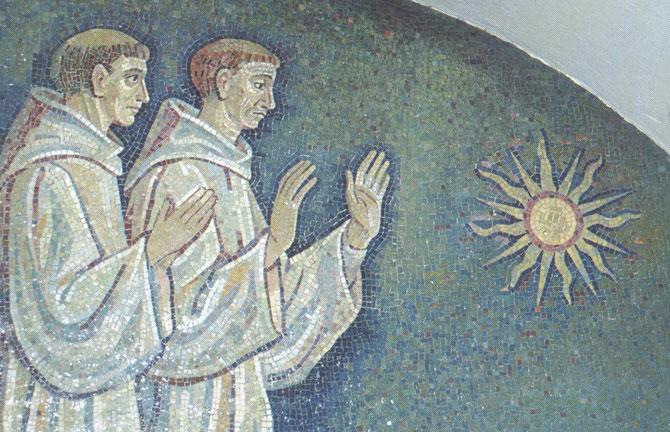 Franciscanos adoran sol