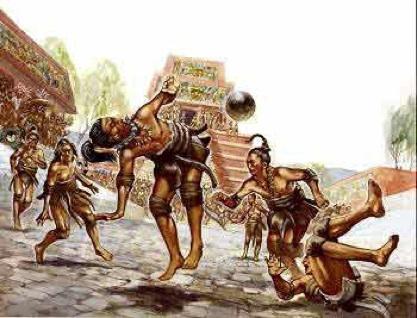 mayas juego balón