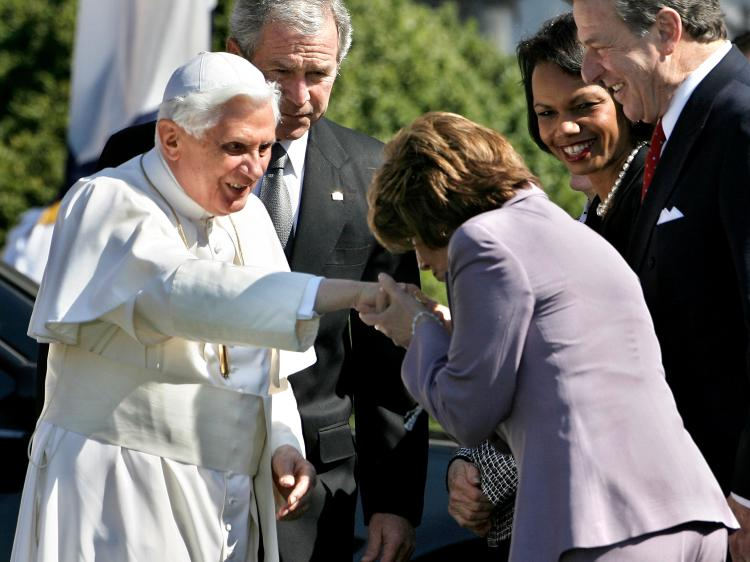 Pelosi kiss pope ring