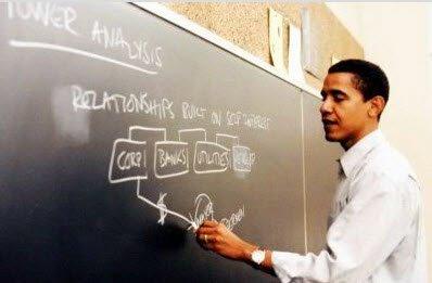 obama enseñando