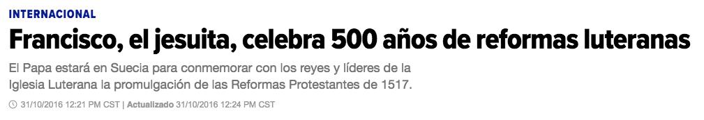 francisco 500 años reforma
