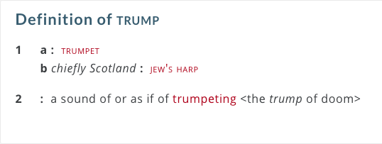 meaning trump