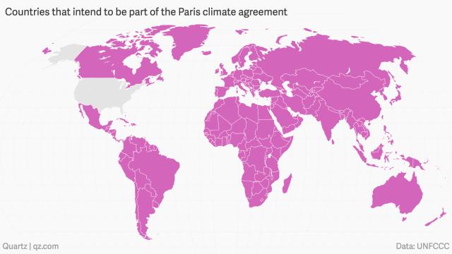 paises en el cambio climatico acuerdo paris